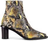 Reike Nen Oval Heel Ankle Boots in Orange Multicolor | FWRD