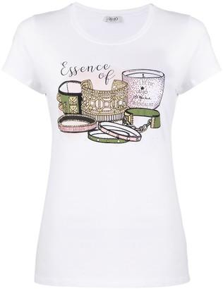 Liu Jo graphic print slim-fit T-shirt