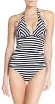 Tommy Bahama Women's Stripe One-Piece Swimsuit