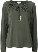 MICHAEL Michael Kors drawstring neck long-sleeved top
