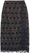 Erdem Sarah Guipure Lace Midi Skirt - Black