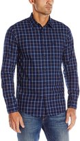 Dockers Long Sleeve Dye Multi Plaid Chambray Woven Shirt