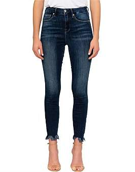 Good American Good Waist' Crop Chewed Hem Super High Rise Skinny Jean
