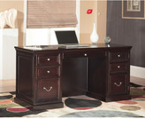 Fulton kathy ireland Home by Martin Furniture Double Pedestal Executive Desk