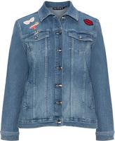 Jette Joop Plus Size Patch denim jacket