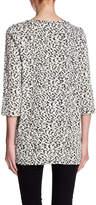 Chaus Leopard Zip Pocket Sweater