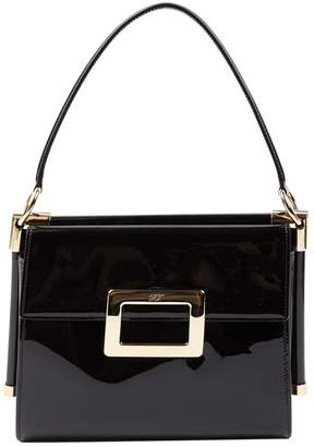 Roger Vivier Mini sac viv sellier Black Patent leather Handbags