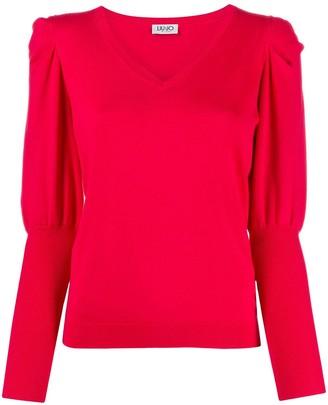 Liu Jo Long-Sleeve Knitted Top