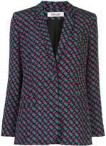 Diane von Furstenberg repeat print blazer