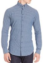 Giorgio Armani Crushed Check Shirt