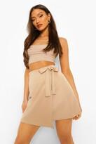 Thumbnail for your product : boohoo Wrap Scuba Mini Skirt