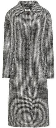 Masscob Abbott Houndstooth Wool-blend Boucle-tweed Coat
