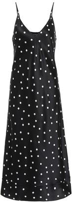 Lee Mathews Talulah polka-dot silk-satin dress