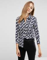 People Tree X Peter Jensen Organic Cotton Fitted Shirt With All Over Sausage Dog Print