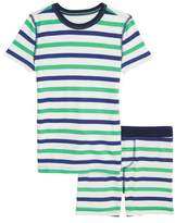 crewcuts by J.Crew Cabana Stripe Fitted Two-Piece Pajamas
