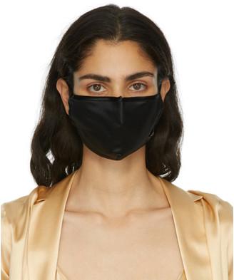La Perla Black Silk Face Mask