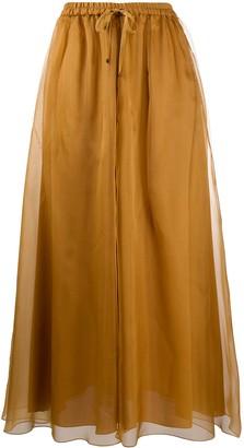 Luisa Cerano Layered Tie Waist Skirt