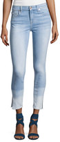 7 For All Mankind The Ankle Skinny Ocean Breeze Jeans W/Side Slit