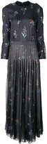 Giorgio Armani printed long pleated dress