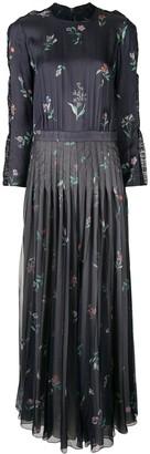 Giorgio Armani Printed Long Pleated Dress