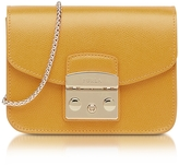 Furla Metropolis Mini Saffron Leather Crossbody Bag