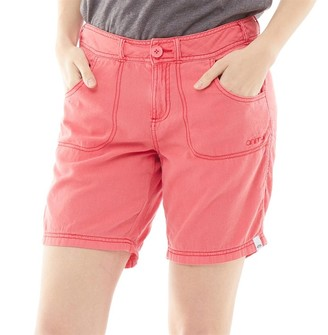 Animal Womens Late Night Woven Shorts Calypso Coral Red