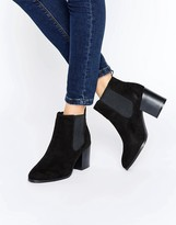 London Rebel Classic Heeled Chelsea Boots
