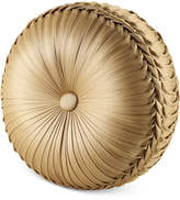 J Queen New York Napoleon Gold Tufted Round Decorative Pillow
