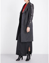 Junya Watanabe Tailored wool and faux-leather coat