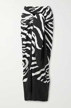 Vix Fiorella Zebra-print Voile Pareo - Zebra print