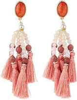 Nakamol Beaded Tassel Drop Earrings, Pink