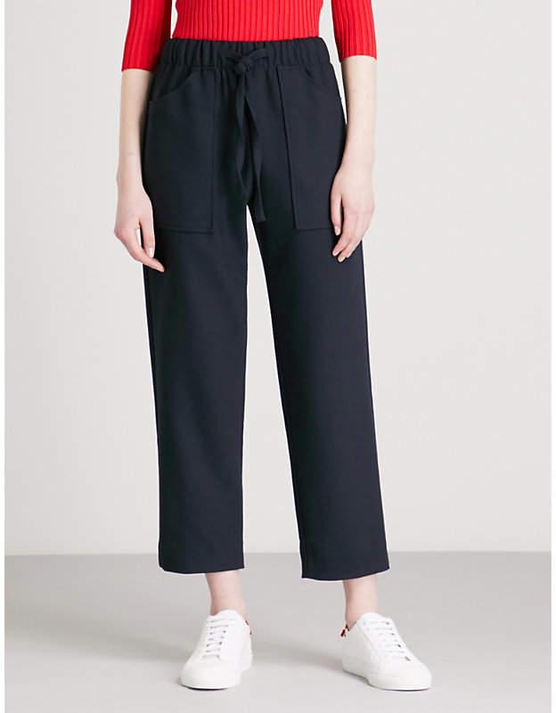 Maje Pavot high-rise woven trousers