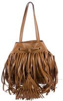 Prada Soft Calf Fringe Bucket Bag