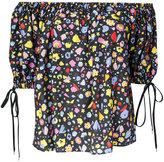 G.V.G.V. printed off shoulder blouse - women - Rayon - 34