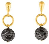 Gurhan Pave Black Diamond Ball Drop Earrings