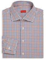 Isaia Slim-Fit Check Dress Shirt
