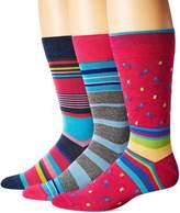 Bugatchi Men's Three-Pack Darl Sock