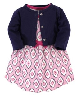 Touched by Nature Organic Cotton Dress and Cardigan Set, Trellis, 18-24 Months