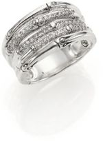 John Hardy Bamboo Diamond & Sterling Silver Five-Row Ring