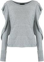 Andrea Bogosian - cut out details top - women - Cotton - M