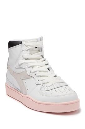 Diadora Mi Basket Wn Leather High Top Sneaker