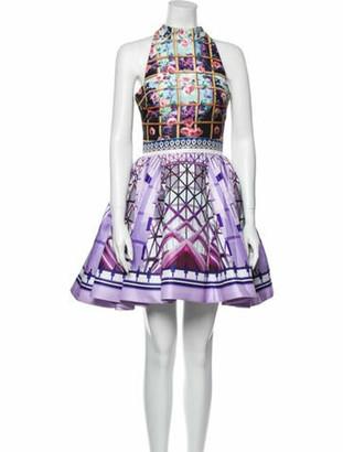 Mary Katrantzou Printed Mini Dress Purple