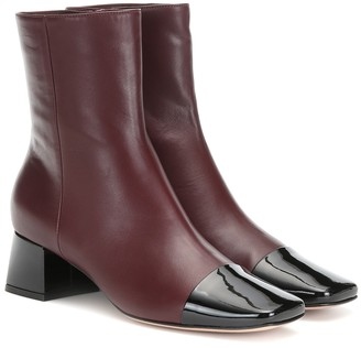 Gianvito Rossi Logan 45 leather ankle boots