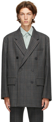 Solid Homme Grey Check Blazer