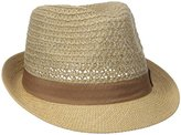 D&Y Women's Braided Jute Hat with Fabric Brim