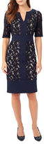 Phase Eight Luisa Lace Ponte Sheath Dress