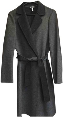 Armani Jeans Grey Wool Coat for Women