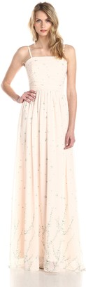 Erin Fetherston Erin Women's Cherry Blossom Chiffon Rouched Bodice Gown