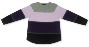 Karen Scott Thea Colorblocked Curved-Hem Sweater, Created for Macy's