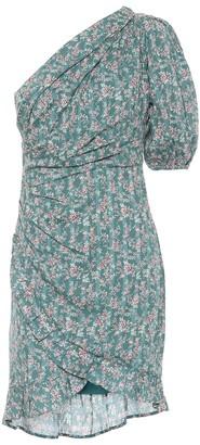 Etoile Isabel Marant Esthera floral cotton one-shoulder minidress